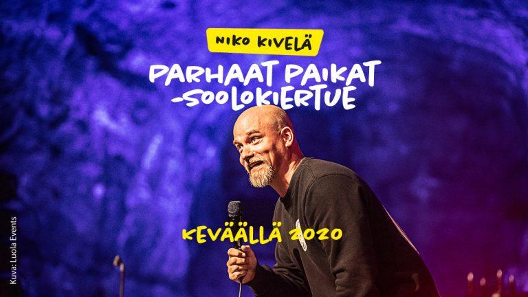 Niko Kivelän Parhaat Paikat -soolokiertue 31.1.-16.5.2020
